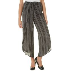 A. Byer Juniors Striped Crepe Ankle Pants