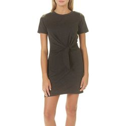 A. Byer Juniors Solid Tie Waist Shirtdress