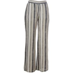 Juniors Striped Linen Pull On Pants