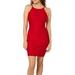 A. Byer Juniors Floral Lace Sheath Dress