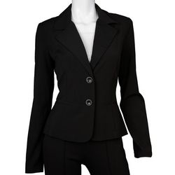 A. Byer Juniors Solid Double Button Jacket