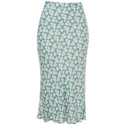 A. Byer Juniors Floral Print Midi Skirt
