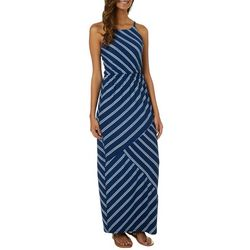 A. Byer Juniors Striped Sleeveless Maxi Dress