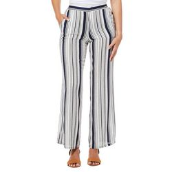 A. Byer Juniors Striped Wide Leg Pull On Pants