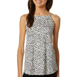 A. Byer Juniors Confetti Dot Print Sleeveless Top