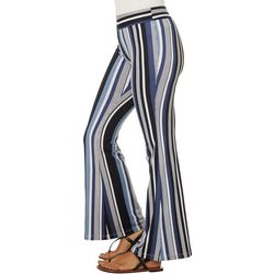 A. Byer Juniors Vertical Striped Pull On Flare Pants