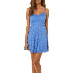 A. Byer Juniors Lace Fit & Flare Dress