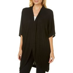 A. Byer Juniors Solid Open Front Kimono Cardigan