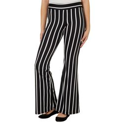 A. Byer Juniors Pin Striped Pull On Flare Pants