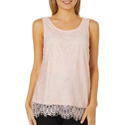 A. Byer Juniors Lace Sleeveless Top