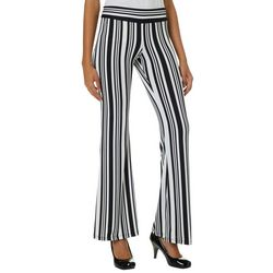 A. Byer Juniors Striped Flared Pull On Pants