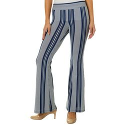 A. Byer Juniors Pull On Striped Flare Pants