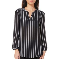 A. Byer Juniors Pin Striped Knit Back Top
