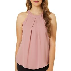 A. Byer Juniors Scallop Trim Sleeveless Top