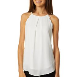 A. Byer Juniors Solid Scalloped Tank Top