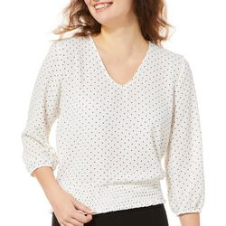 A. Byer Juniors Dot Print Back Cutout Top