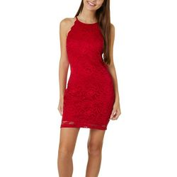 A. Byer Juniors Lace Sleeveless Skater Dress