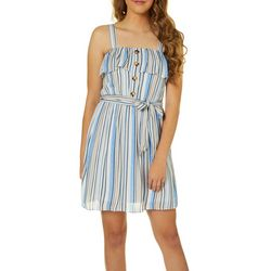 Juniors Striped Sleeveless Sundress