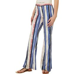 A. Byer Juniors Tie Dye Vertical Stripes Pull On Pants