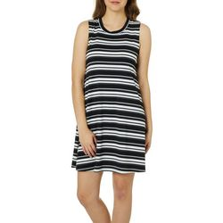 A. Byer Juniors Striped Sleeveless Sundress