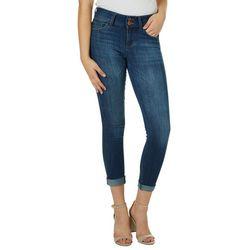 Vanilla Star Juniors Roll Cuff Skinny Jeans