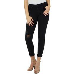 Vanilla Star Juniors Roll Cuff Destructed Ankle Jeans