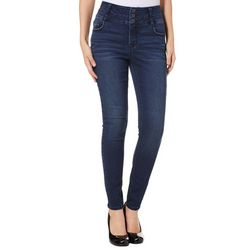 Vanilla Star Juniors High Rise Whiskered Skinny Jeans