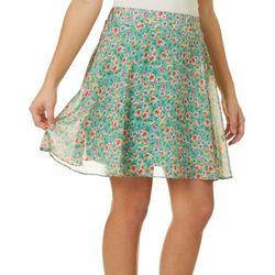 Poof Juniors Feminine Floral Print Skirt