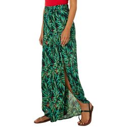 Hydraulic Juniors Tropical Palm Print Gauze Palazzo Pants