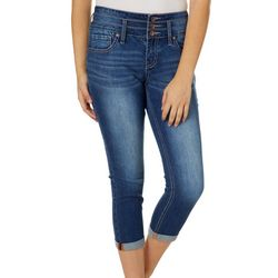 Hydraulic Juniors Faded Denim Crop Jeans