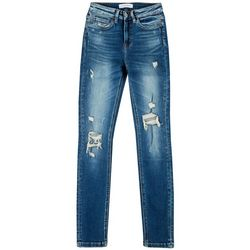 Flying Monkey Juniors Distressed High Rise Skinny Jeans