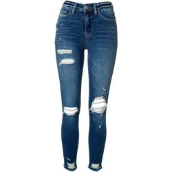 Juniors Distressed High Rise Skinny Jeans