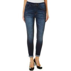 YMI Juniors WannaBettaButt Luxe Lift Roll Cuff Jeans