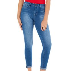 YMI Juniors Mid Rise Roll Cuff Ankle Jeans