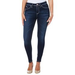 YMI Juniors WannaBettaButt Faded Stretch Skinny Denim Jeans