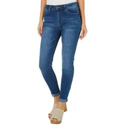 YMI Juniors Hide Your Muffin Top Roll Cuff Ankle Jeans