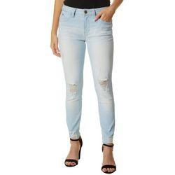 Juniors WannaBettaButt Dog Bite Skinny Ankle Jeans