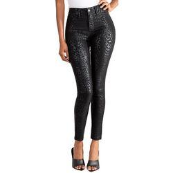 YMI Juniors Subtle Cheetah Print Hyperstretch Skinny Pants