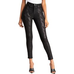 Juniors Subtle Snakeskin Print Hyperstretch Skinny Pants