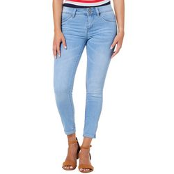 YMI Juniors WannaBettaButt Two Button Roll Cuff Skinny Jeans