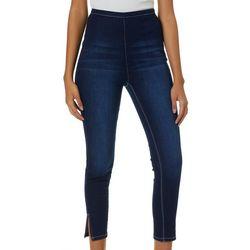 YMI Juniors No Muffin Top Split Hem Denim Jeans