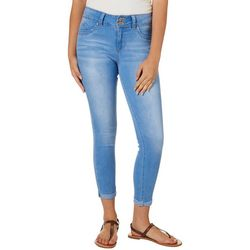 YMI Juniors WannaBettaButt Roll Cuff Whiskered Jeans