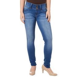 YMI Juniors WannaBettaButt Faded Denim Skinny Jeans