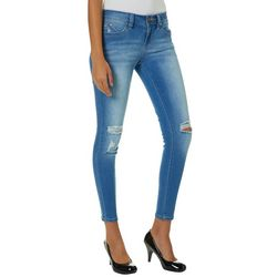 YMI Juniors WannaBettaButt Destructed Denim Skinny Jeans