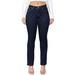 Juniors WannaBettaButt Straight Leg Mid Rise Jeans