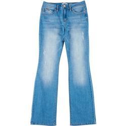 Juniors WannaBettaButt Wide Leg Jeans
