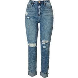 Dream Jeans by YMI Juniors Acid Wash Roll Cuff Jeans