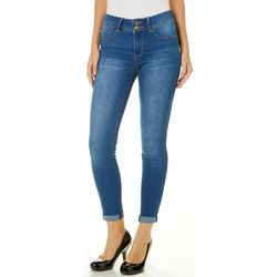 YMI Juniors Roll Cuff Mid Rise Soft Stretch Ankle Jeans