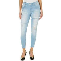 YMI Juniors WannaBettaButt Frayed Destructed Skinny Jeans