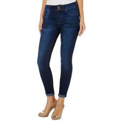 YMI Juniors WannaBettaButt Roll Cuff Whiskered Jeans